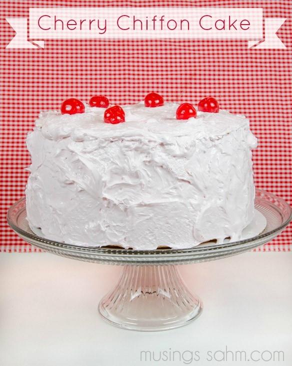 Cherry Chiffon Cake recipe