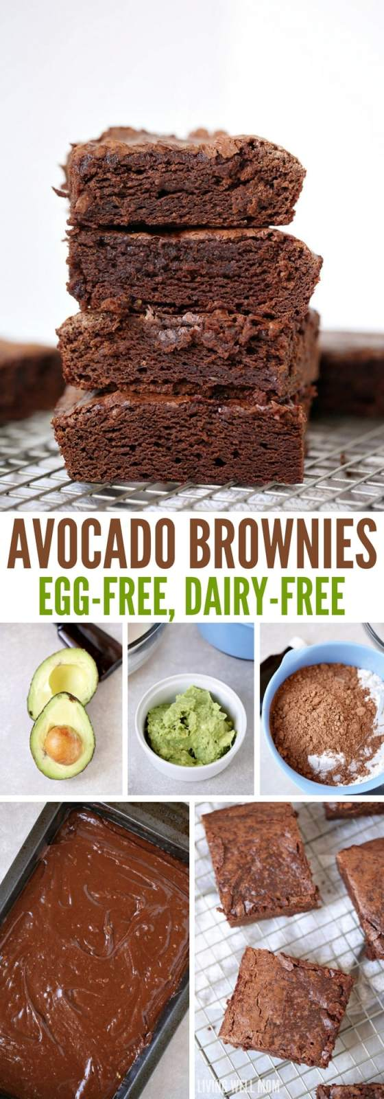 Super-Moist Avocado Brownies are mouthwateringly delicious and so easy to make! Kids love this egg-free brownie recipe too; your whole family will enjoy this chocolate dessert. #brownies #avocado #eggfree #dessert #easyrecipe #chocolaterecipes