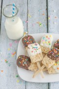 Rice Krispies Popsicle Treats