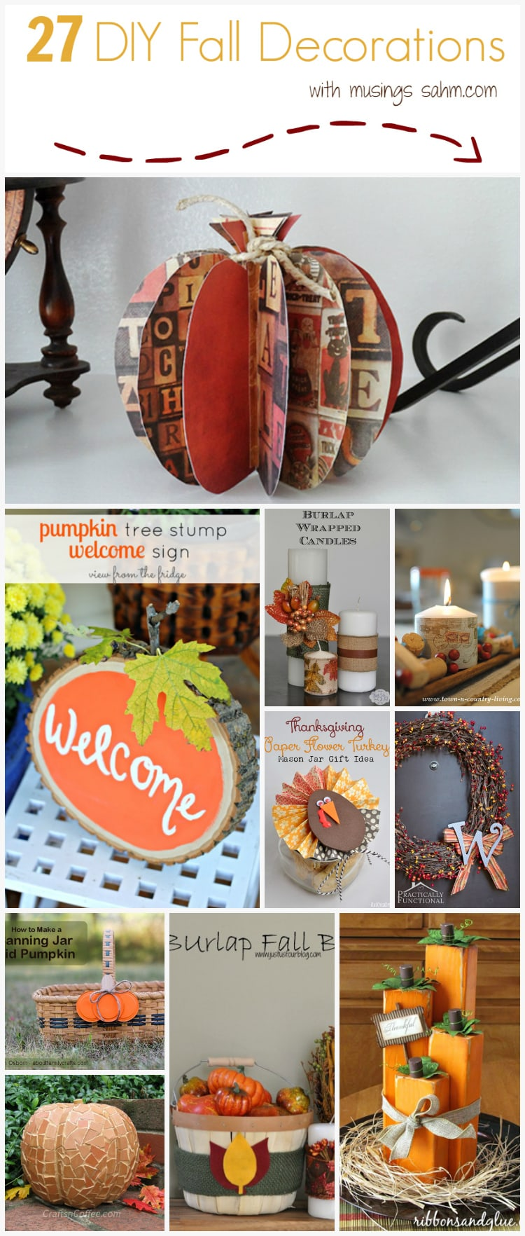 27 DIY Fall Decorations to make for your home you'll love!  crafts autumn