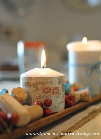 Candles-wrapped-in-scrapbook-paper
