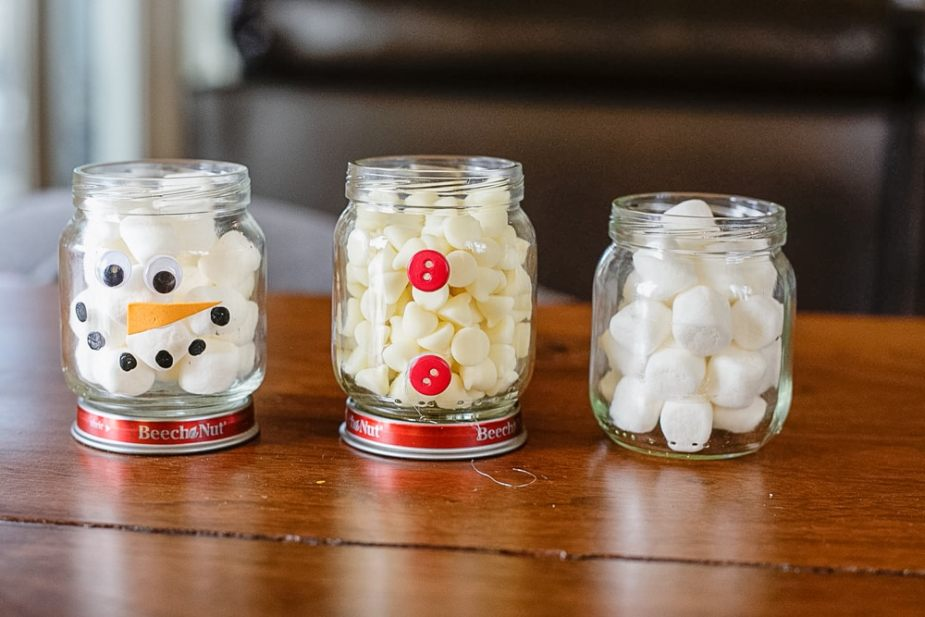 A homemade gift idea that doubles as a fun craft for kids, this DIY Hot Cocoa Snowman is adorable and easy to make too!