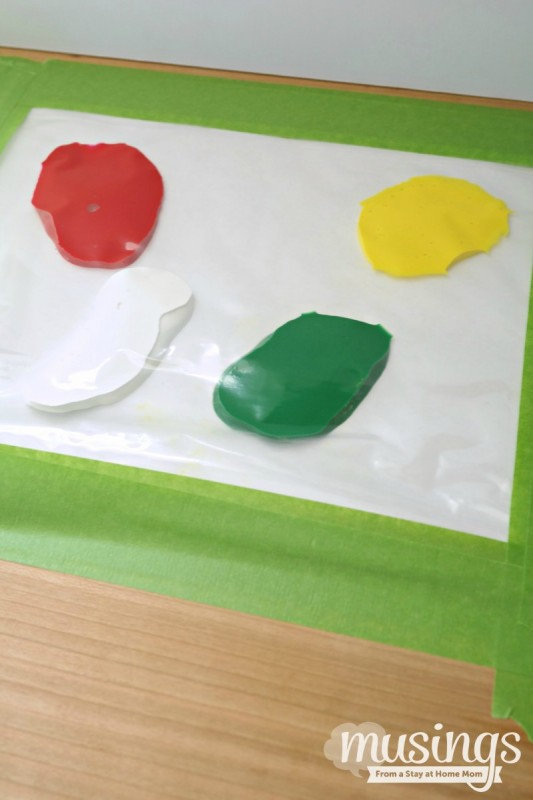 Mess Free Finger Paint is a fun activity for kids without the clean-up hassle later