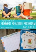 summer reading program for kids with chart