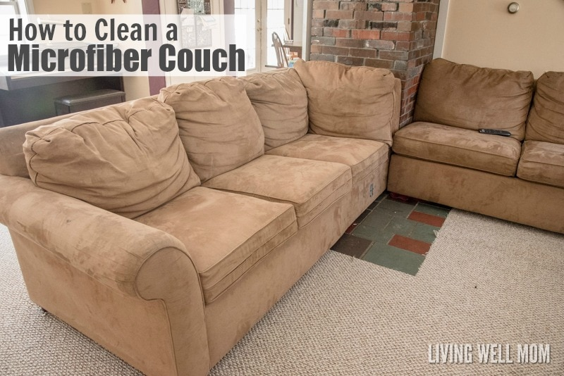 how to clean faux suede couch