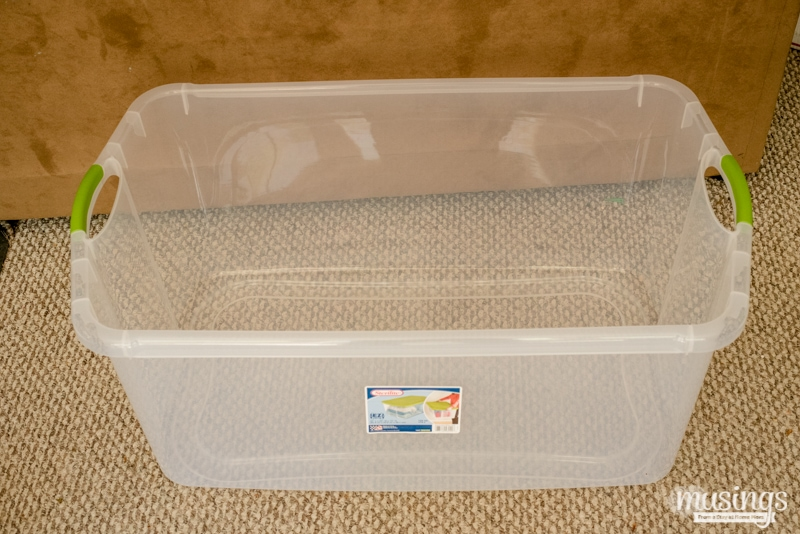 large tote for a chick brooder