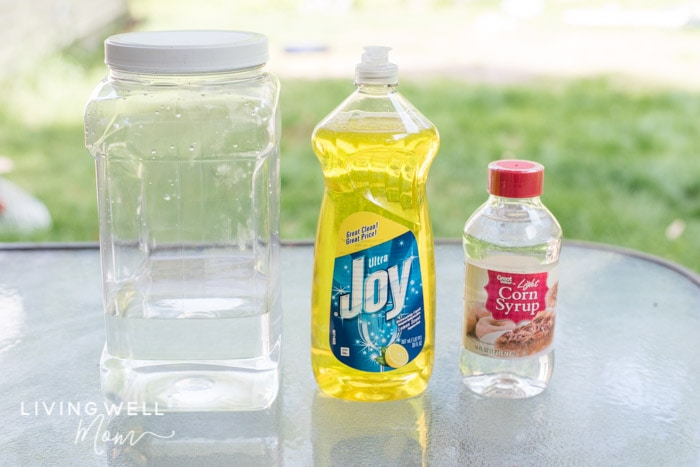 homemade bubble ingredients without glycerin
