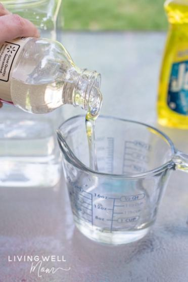 adding corn syrup for homemade bubbles