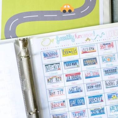 free printable road trip license plate game