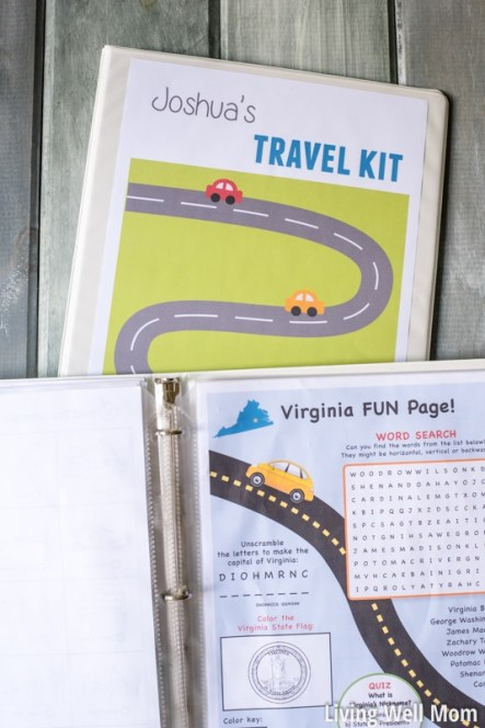 free printable road trip games travel binder