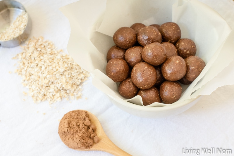 This simple gluten-free Chocolate Protein Balls recipe has no refined sugar and with just 7 ingredients and 5 minutes to make, it's an easy way to enjoy a guilt-free chocolate fix!