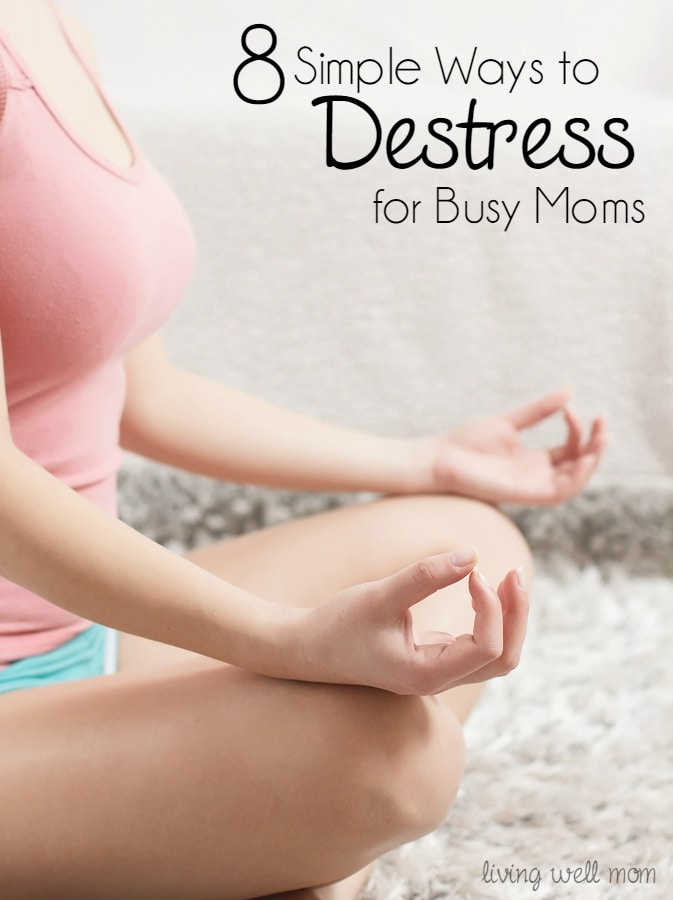 For all you busy moms out there, here's 8 simple ways to destress and take care of yourself. Not a spa visit - these are easy ideas you can do right at home.