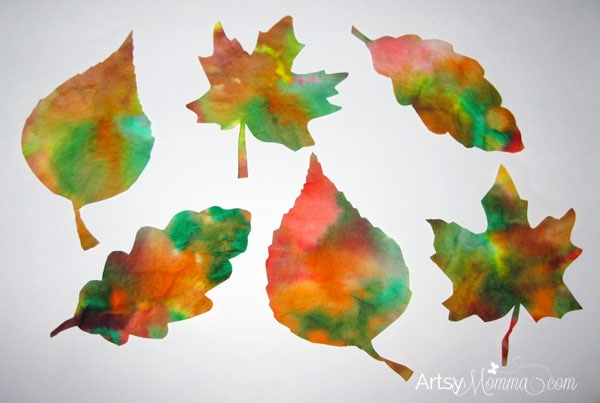 Coffee-Filter-Leaves-Fall-Craft-for-Kids