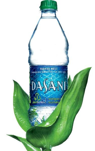 Dasani Water Bottle Green Cap