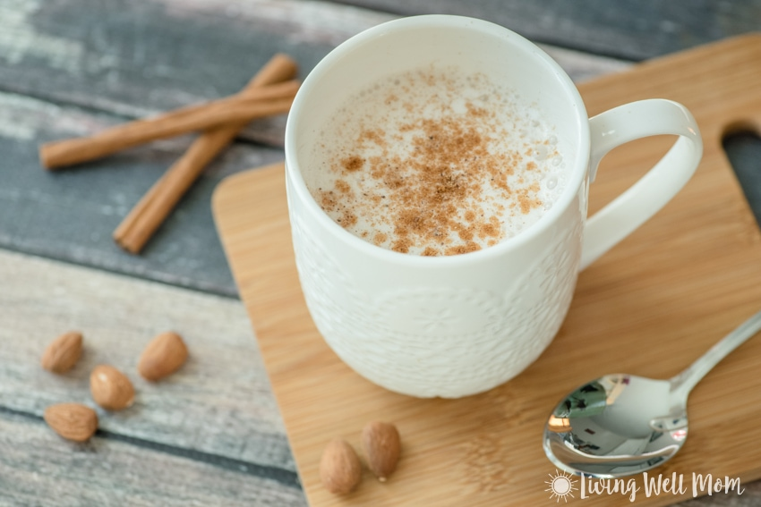 A warm mug of this creamy Spiced Almond Milk is the perfect way to unwind each evening. Plus it's a perfect substitute for unhealthy evening snacking and so quick and easy to make!