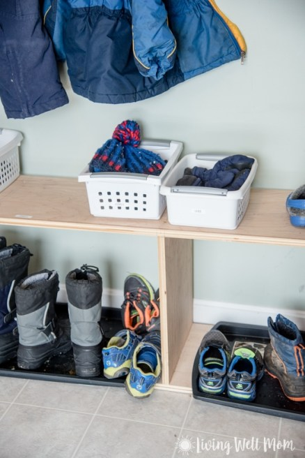 Organizing kids' winter gear ideas