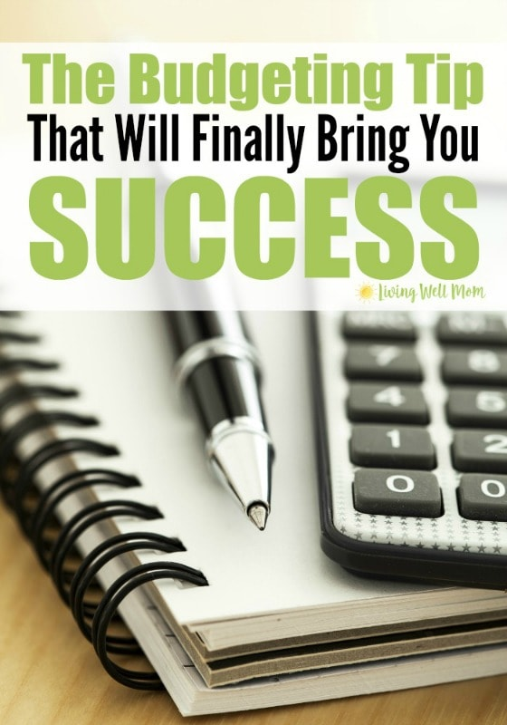 Frustrated with never getting ahead with your finances? Having a tough time paying off debt or saving money? You need to read about this very simple budgeting tip that will finally bring you success. No matter where you're at financially, this will help! (Yes, it works for tight family budgets!)