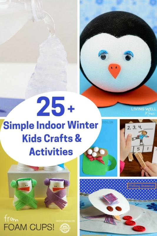 25 Simple Winter Crafts And Activities For Preschoolers