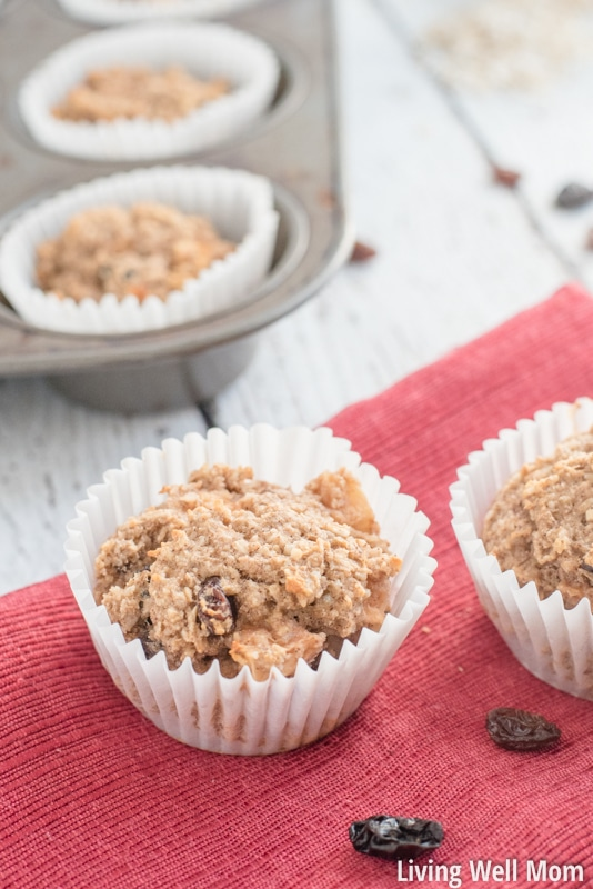 Need a satisfying healthy snack for the kids? Soft and delicious, bursting with apple flavor and sweetened only with honey and banana, this Gluten-Free Apple Oatmeal Muffins recipe is kid-approved and easy-to-make!