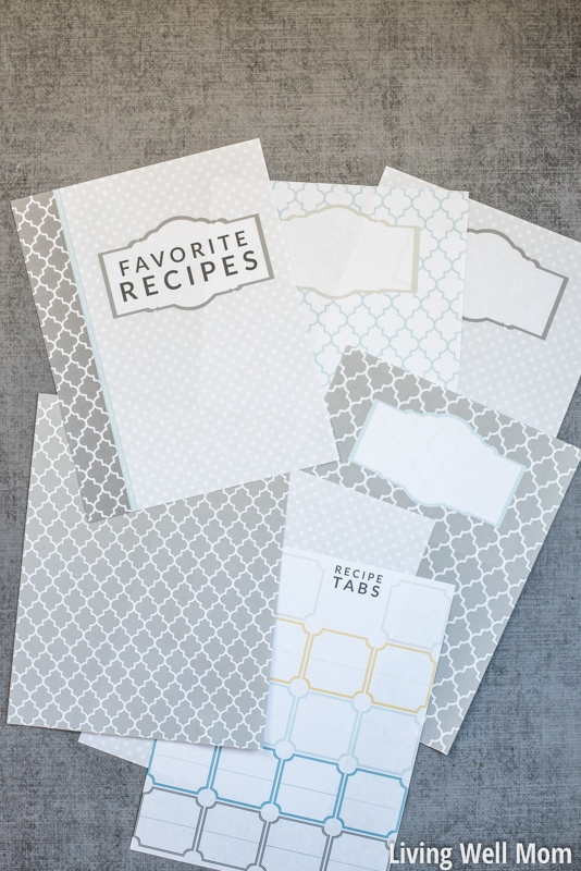 graphic about Free Printable Recipe Binder Templates titled Do it yourself Recipe Binder (with Cost-free Printable Downloads)