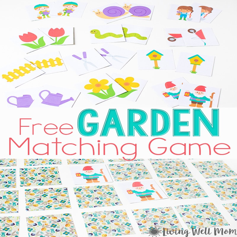Looking for a quick and simple way to keep your preschooler-early elementary kids busy? Grab this free printable spring matching game! This cute activity is a great way to celebrate spring's arrival and work on kids' memory skills at the same time!