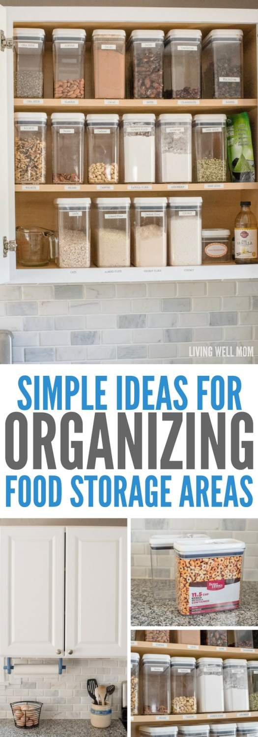 2 Quick Tips For Organizing Food Storage Areas In Your Kitchen