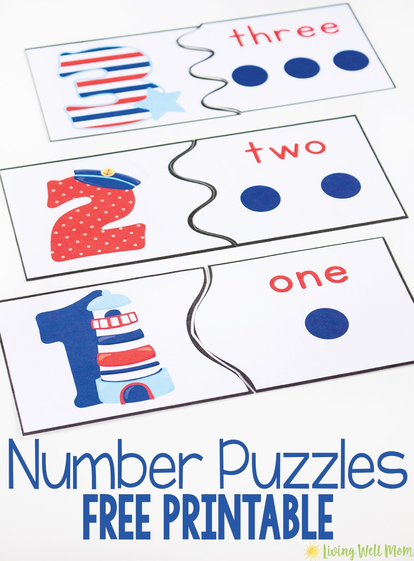 Help your child get ready for kindergarten with this fun FREE PRINTABLE Number Recognition Puzzles game. It's a great way to encourage number learning from 0-10 as kids match numbers to the dots with this easy activity.