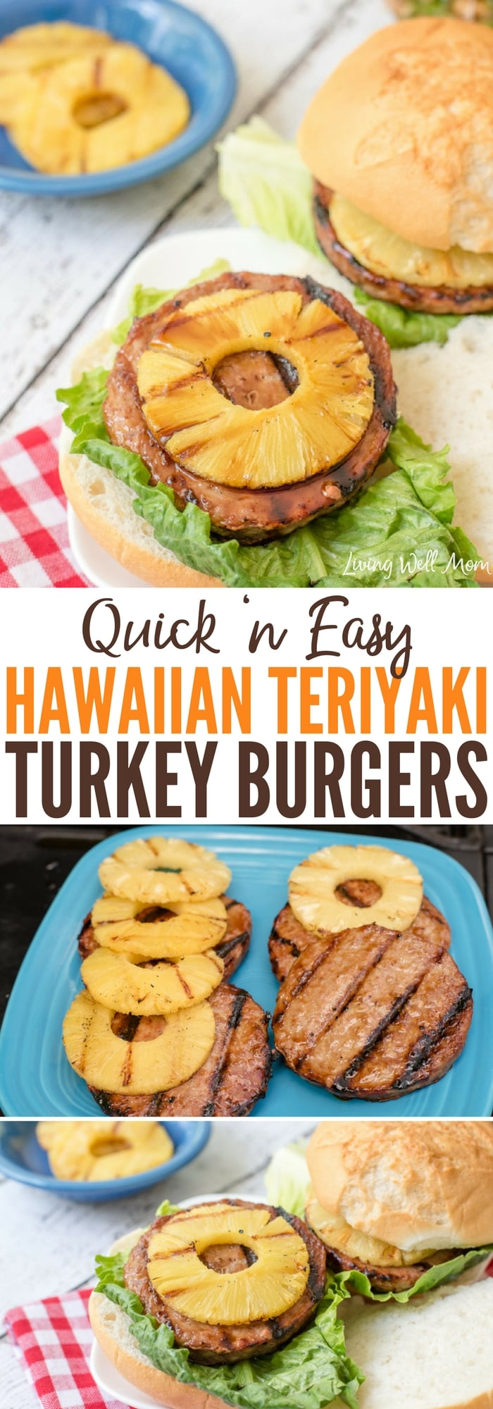 Hawaiian Teriyaki Turkey Burgers are gluten-free and a tasty twist on regular burgers. They're quick and easy to make and kids love this grilling recipe too!