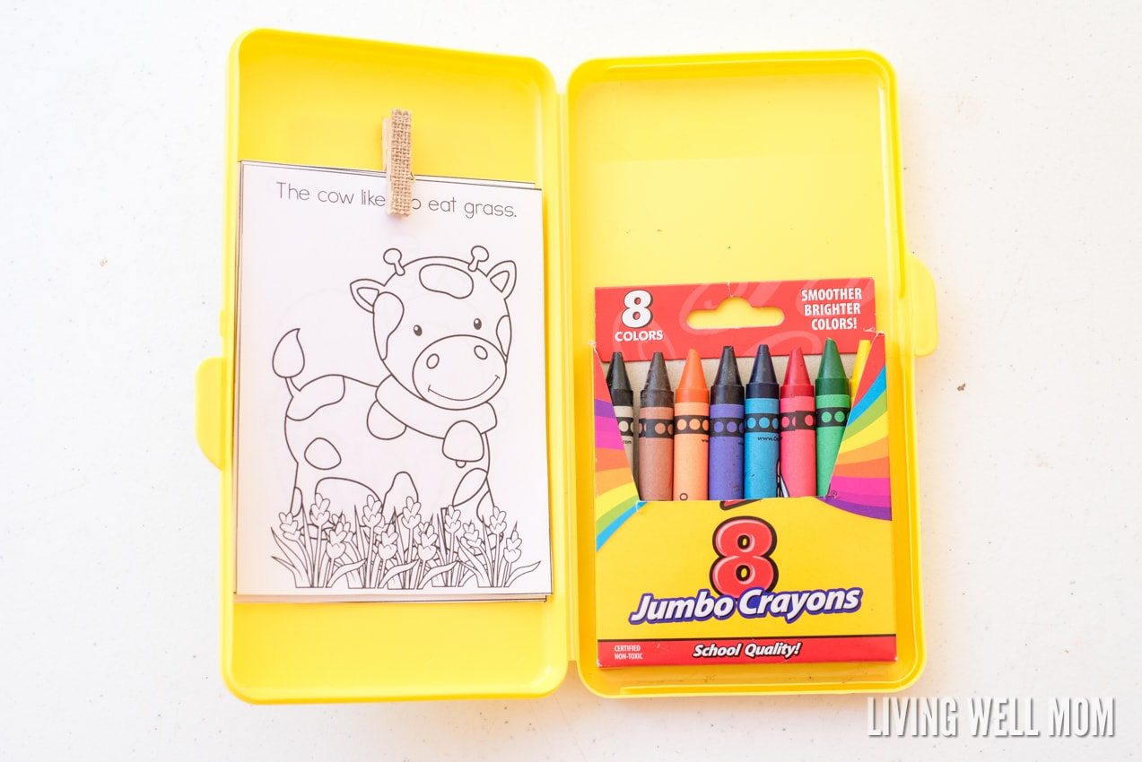 DIY Travel Coloring Kit for Kids with Free Printable ...