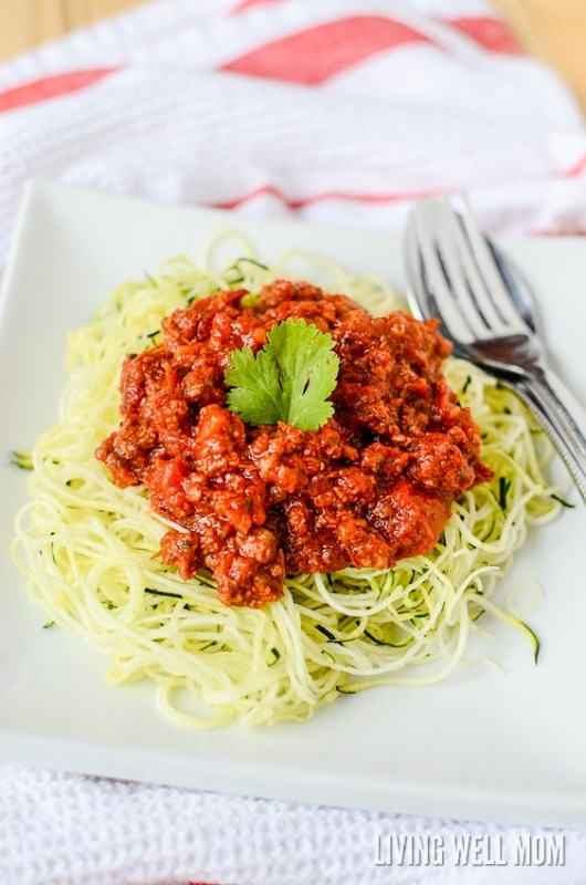 how to make zoodles and enjoy with pasta sauce