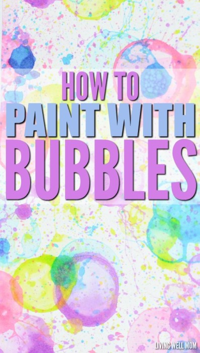 how to paint with bubbles for kids