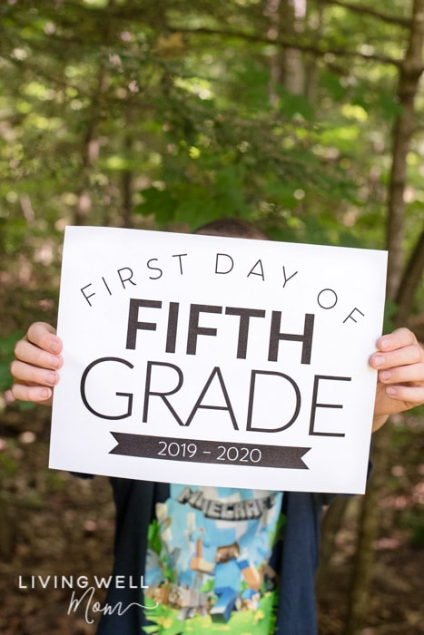 photograph regarding Smile You Re on Camera Sign Printable called Free of charge Printable Very first Working day of College Signs and symptoms for All Grades