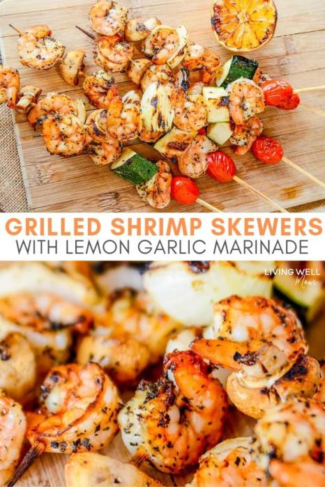 grilled shrimp skewers with lemon garlic marinade