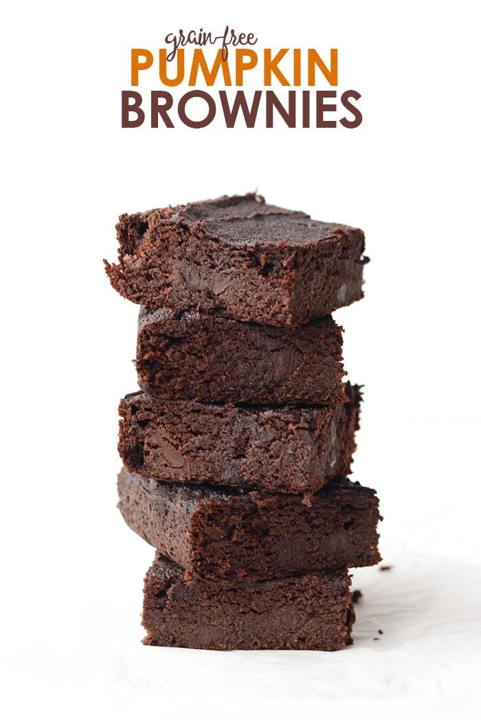 Grain-Free Pumpkin Brownies by Fit Foodie Finds