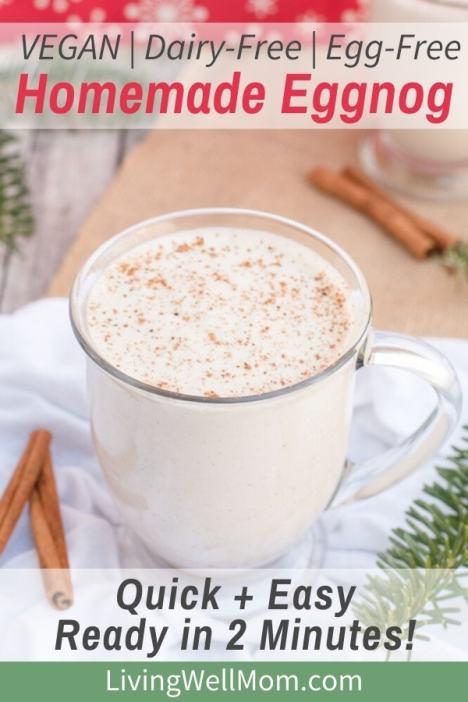 vegan dairy free egg free homemade eggnog