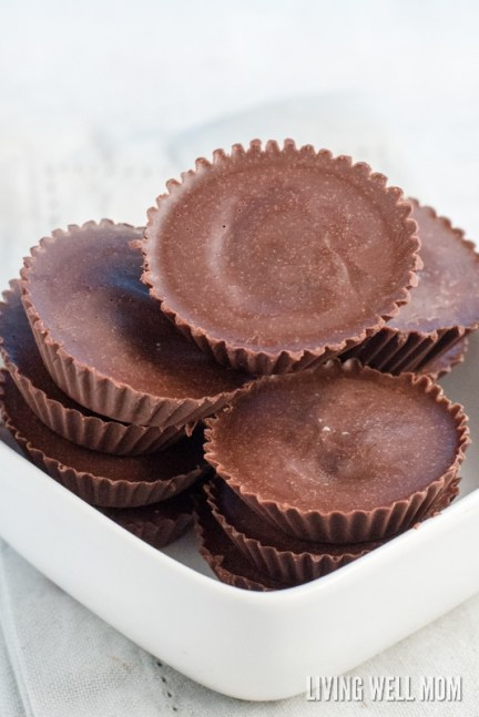bowl of low carb chocolate fat bombs with coconut oil