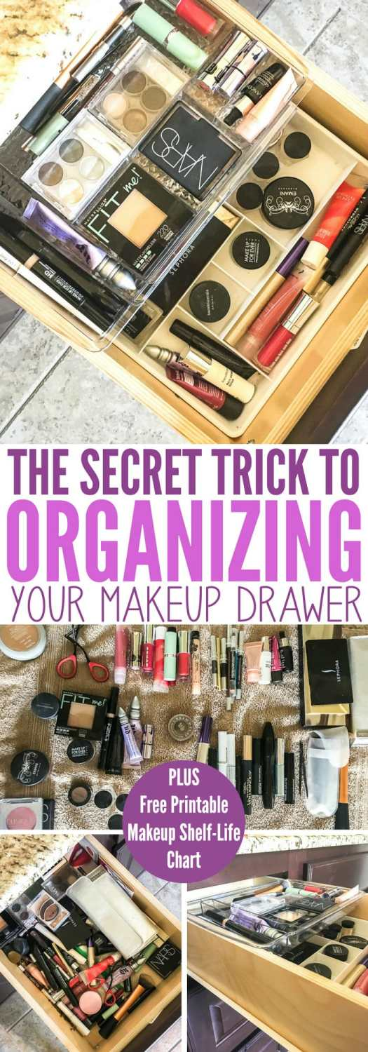 The Secret Trick to Organizing Your Makeup Drawer