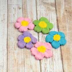 These delightful salt dough flowers are the perfect way to preserve your children's fingerprints in a fun, spring-themed project! Kids will love these!