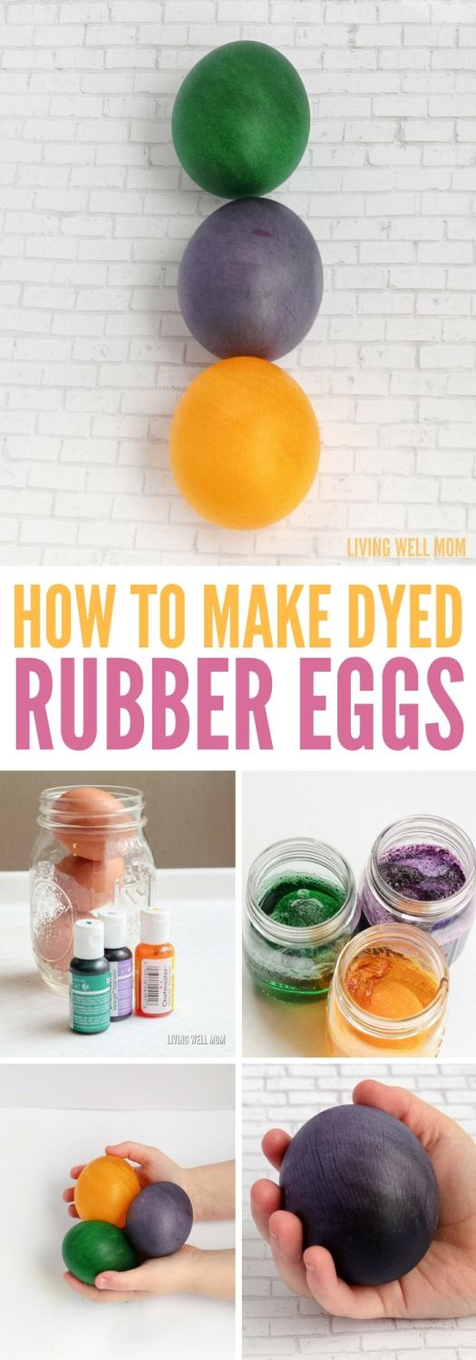 Transform your kitchen into a science lab with these colorful dyed rubber eggs! Whether for a fun twist on dyed Easter eggs or a science experiment, you won't believe how easy it is!