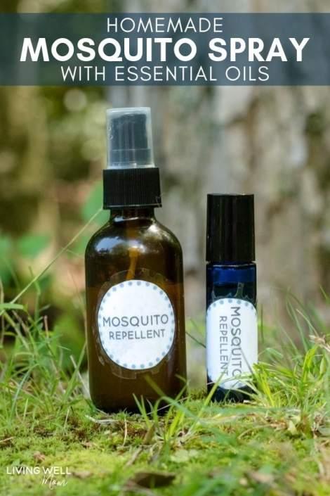 homemade mosquito spray with essential oils