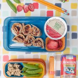 PB&J doesn't have to be the same old day after day. Kids will love these 5 tasty gluten-free twists on peanut butter & jelly sandwiches and so will you, Mom! Plus find inspiration for delicious and nutritious extras and snacks to include in your kids' school lunches. bento lunch fun!