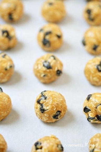 dried blueberries energy bites