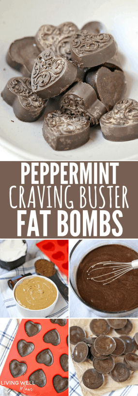 peppermint chocolate craving buster keto fat bombs