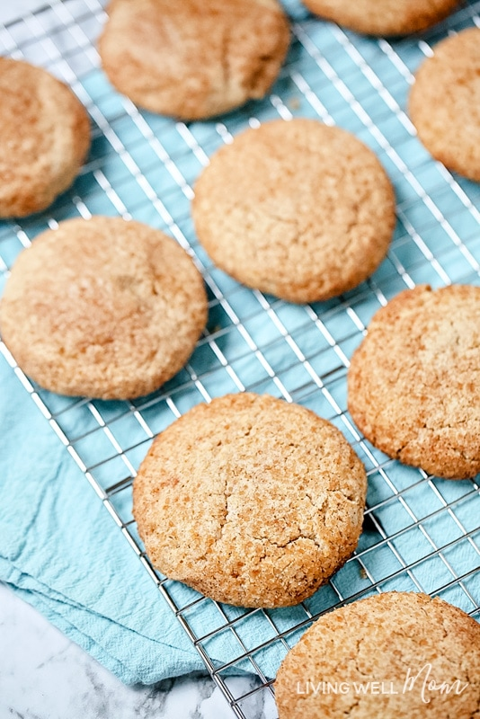 soft chewy gluten free snickerdoodles with pumpkin spice