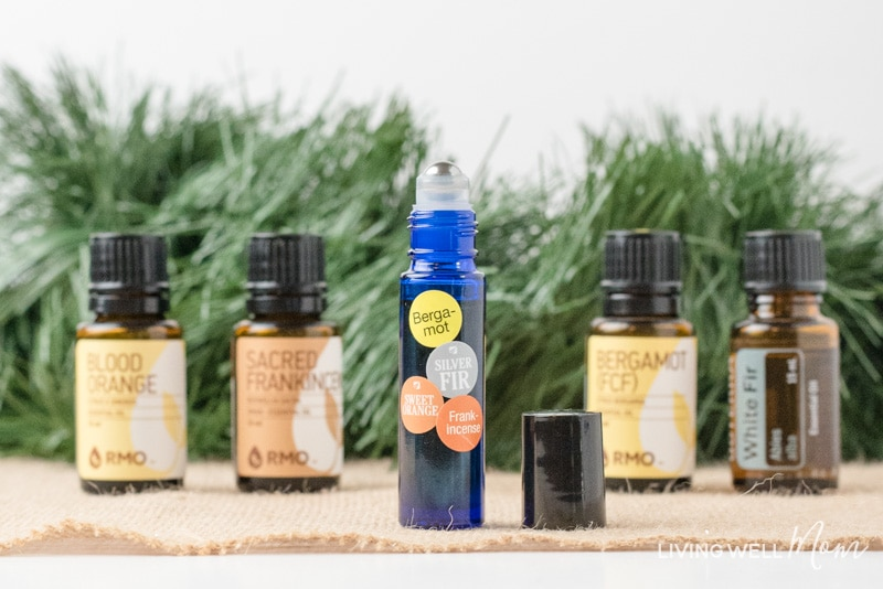 This Holiday Calming Essential Oil Blend can bring back the joy this Christmas. It may help uplift your mood, reduce stress levels, relax, and improve brain fog. (Moms love it!) Get the easy DIY blend here...