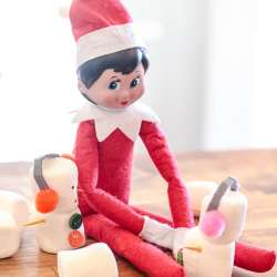 In need of a few ideas for your Elf on a Shelf? You can find 50 creative and simple Elf on the Shelf ideas plus a free printable here.