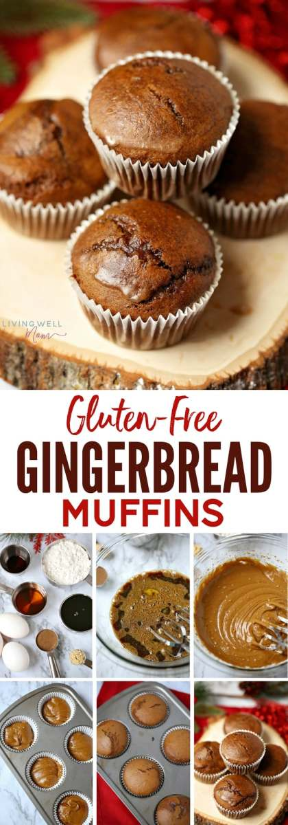 Moist and packed with gingerbread spices, this Gluten-Free Gingerbread Muffins recipe is quick and easy to make and will quickly become a favorite with the whole family. The light coconut butter glaze adds a delicious finishing touch, though these muffins are delicious without the glaze. Dairy-free, gluten-free, refined sugar free.