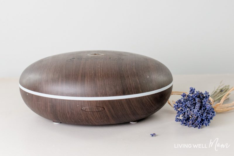 essential oil diffuser with lavender flowers