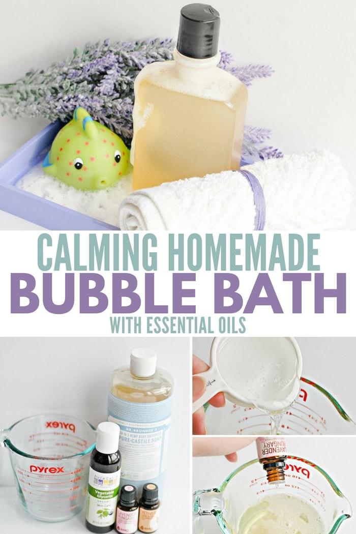 Calming Homemade Bubble Bath with Essential Oils - Recipe