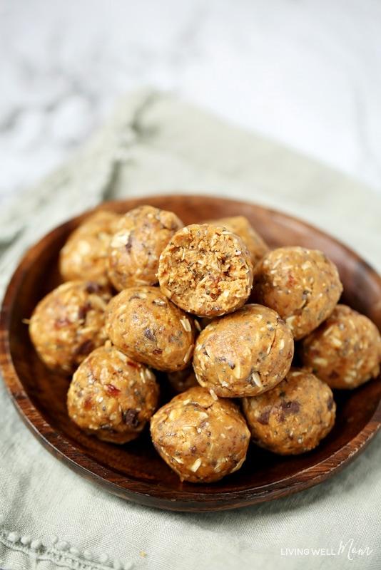 easy gluten-free peanut butter date energy balls